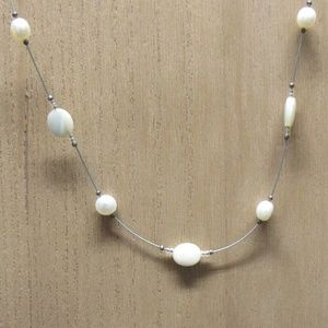 Silpada Real Pearl and Mother of Pearl Necklace